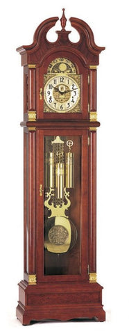 Hermle German Eton Mechanical Longcase Grandfather Clock - Cherrywood - Westminster Chime