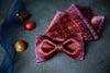 Minos Butterfly Bow Tie & Pocket Square Set