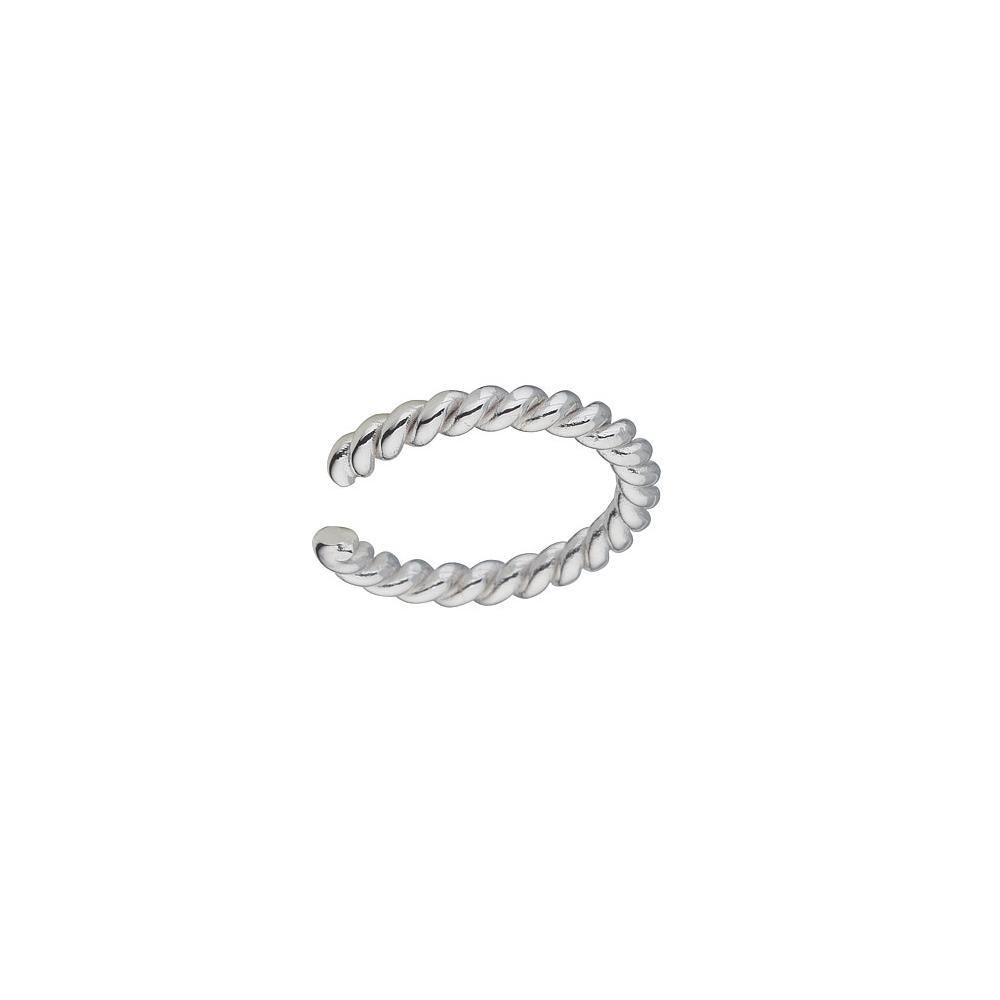 Sterling Silver Roped Ear Cuff