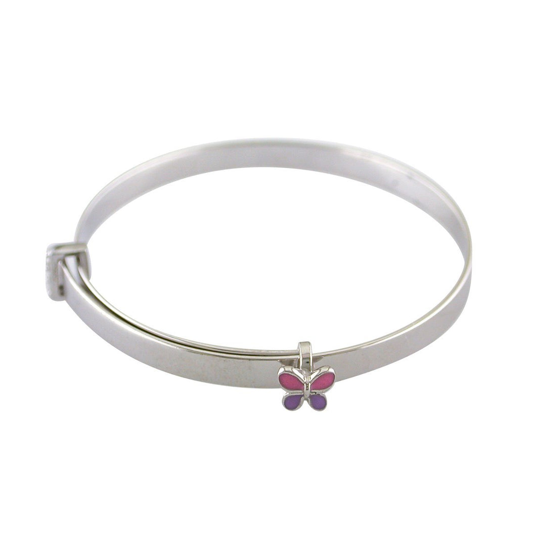 Sterling Silver Butterfly Baby Bangle