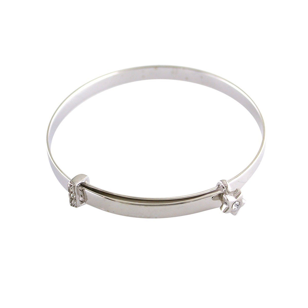 Sterling Silver Star Baby Bangle