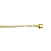 Load image into Gallery viewer, Sterling Silver 18ct Yellow Gold Plated Claw Set Tennis Bracelet