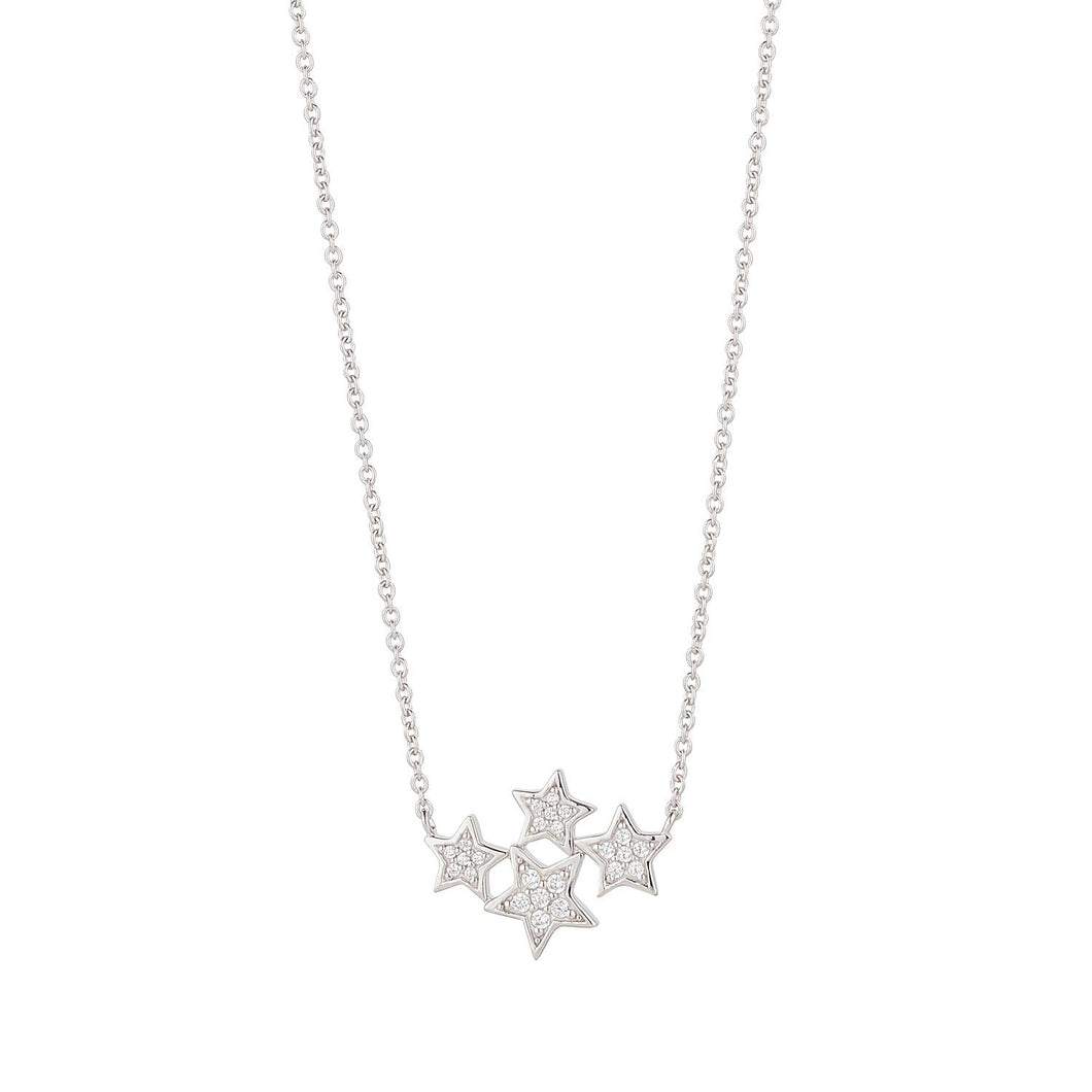 Sterling Silver Star Constellation Necklace