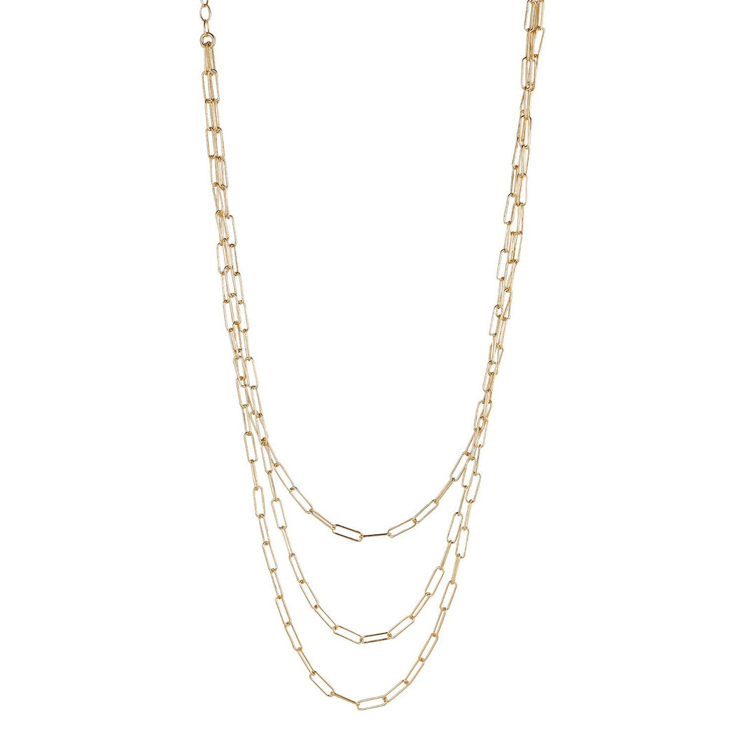 18ct Gold Plated Sterling Silver Layered Necklace