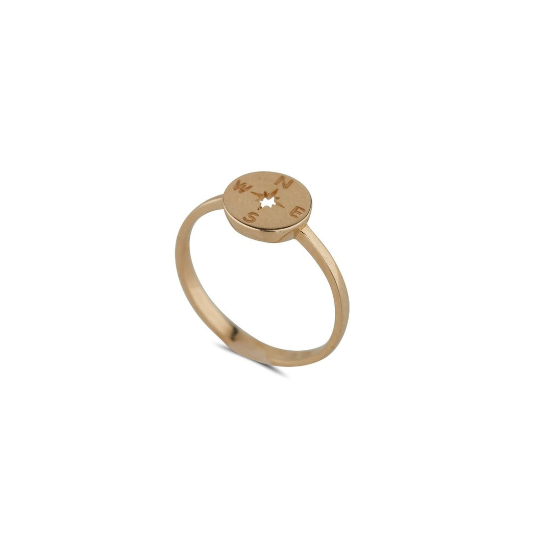 9ct Yellow Gold Compass Ring