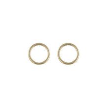 Load image into Gallery viewer, 9ct Yellow Gold Open Circle Stud Earring