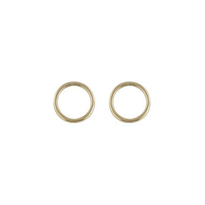 9ct Yellow Gold Open Circle Stud Earring