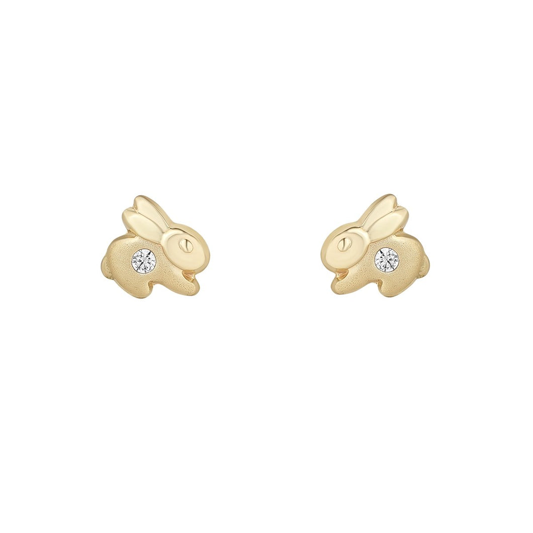 9ct Yellow Gold Rabbit Kids Stud Earring