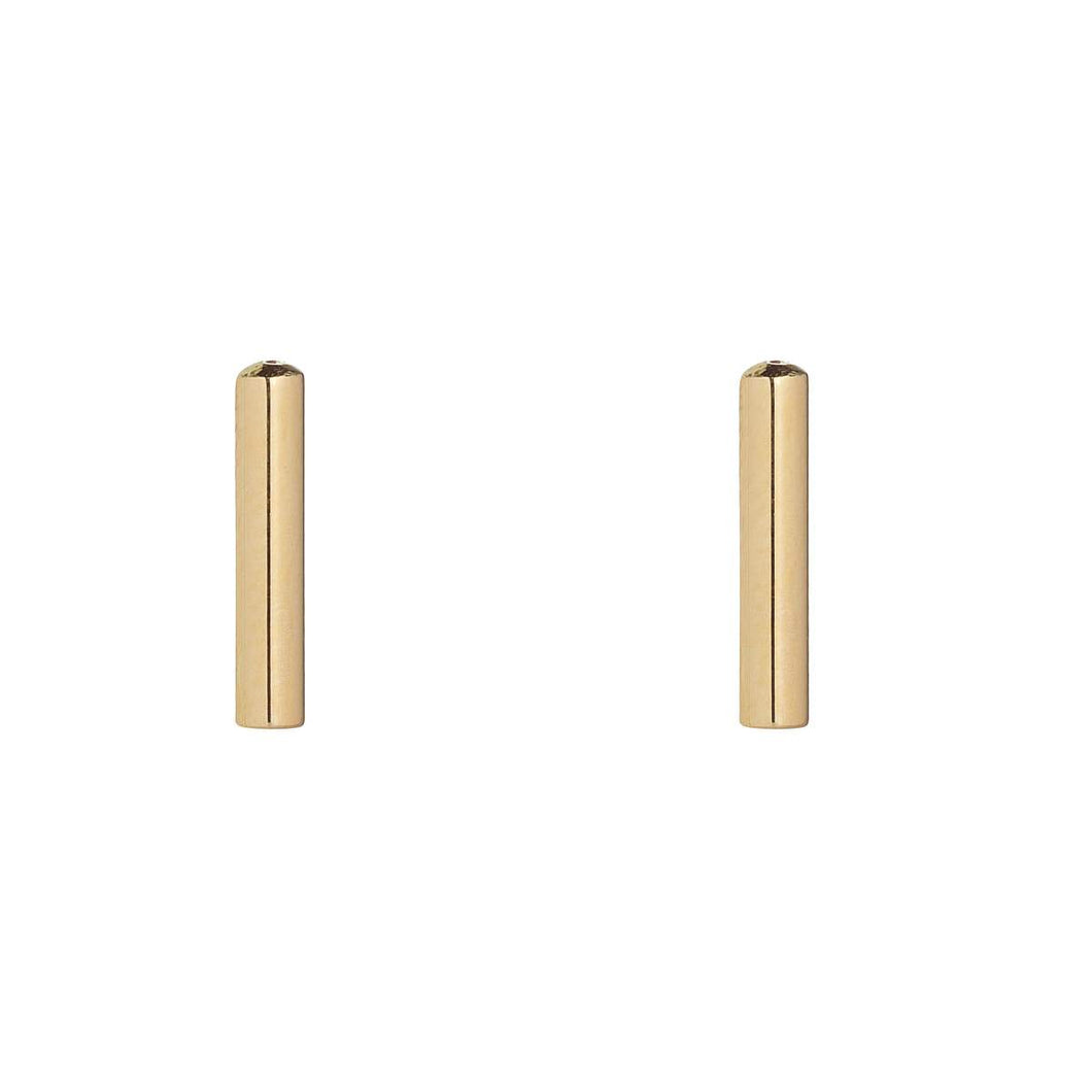 9ct Yellow Gold Bar Stud Earring