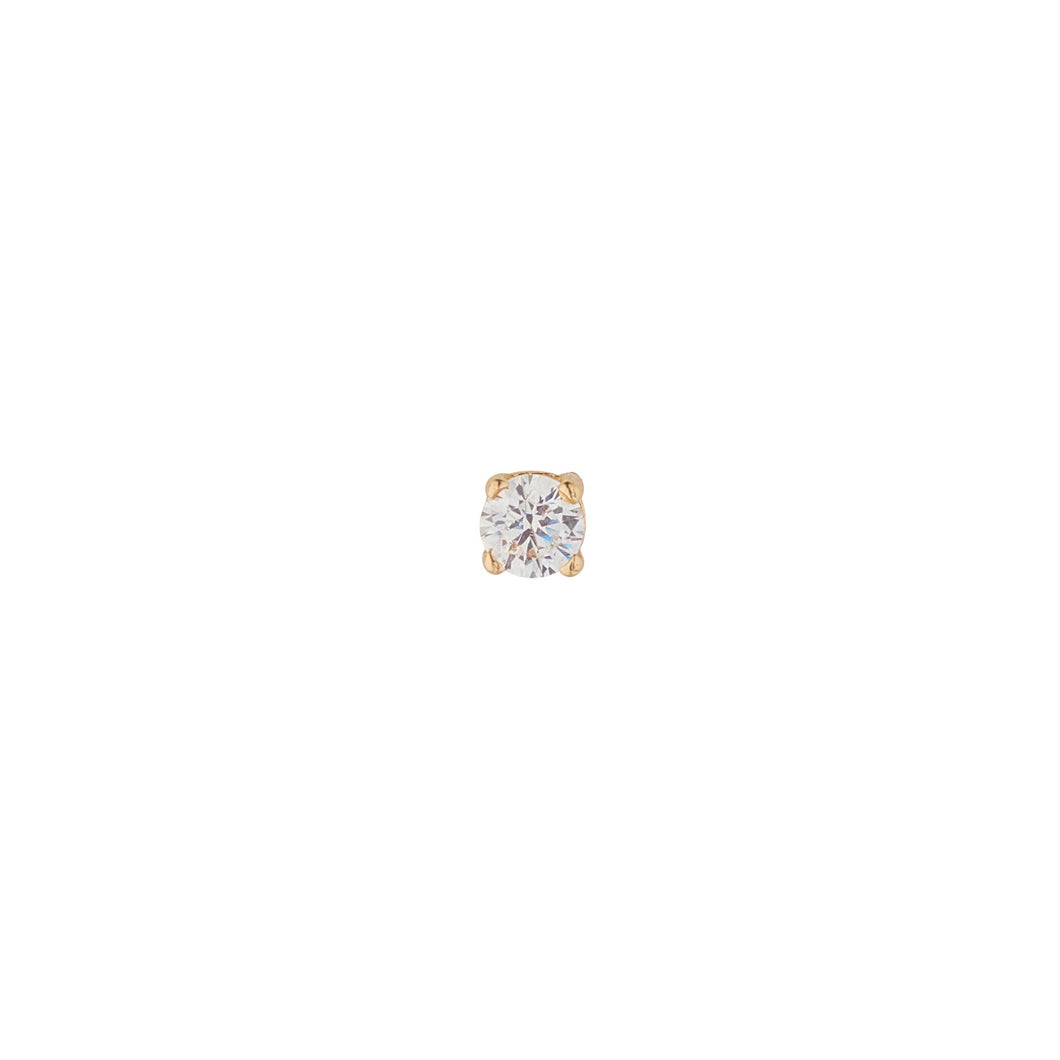 9ct Yellow Gold Cubic Piercing