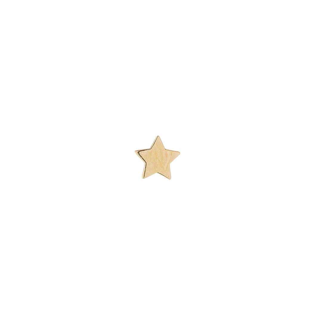 9ct Yellow Gold Star Piercing