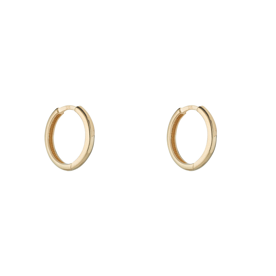 9ct Yellow Gold Huggie Earring