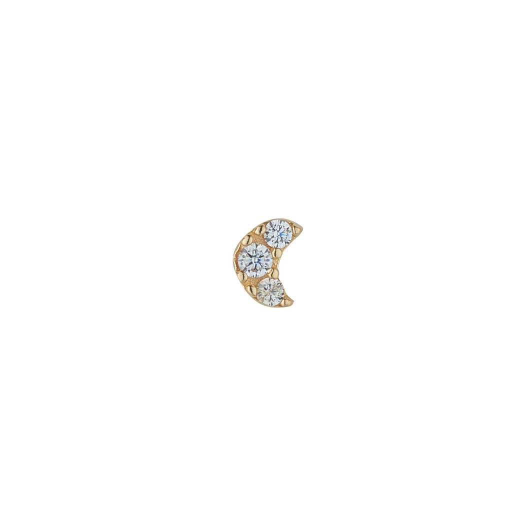 9ct Yellow Gold Cubic Moon Piercing