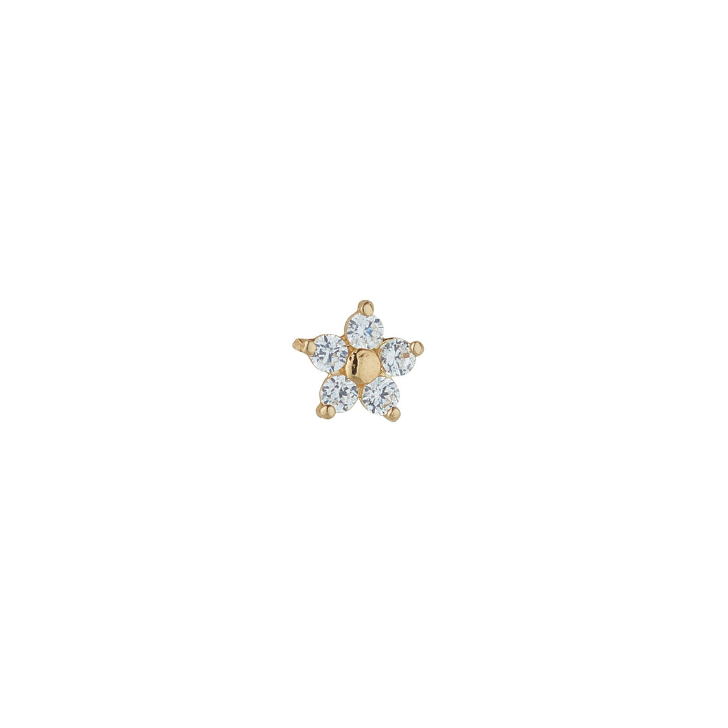 9ct Yellow Gold Cubic Flower Piercing