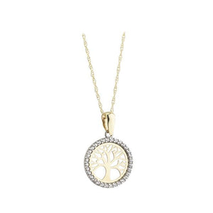 9ct Yellow Gold Tree Of Life Pendant