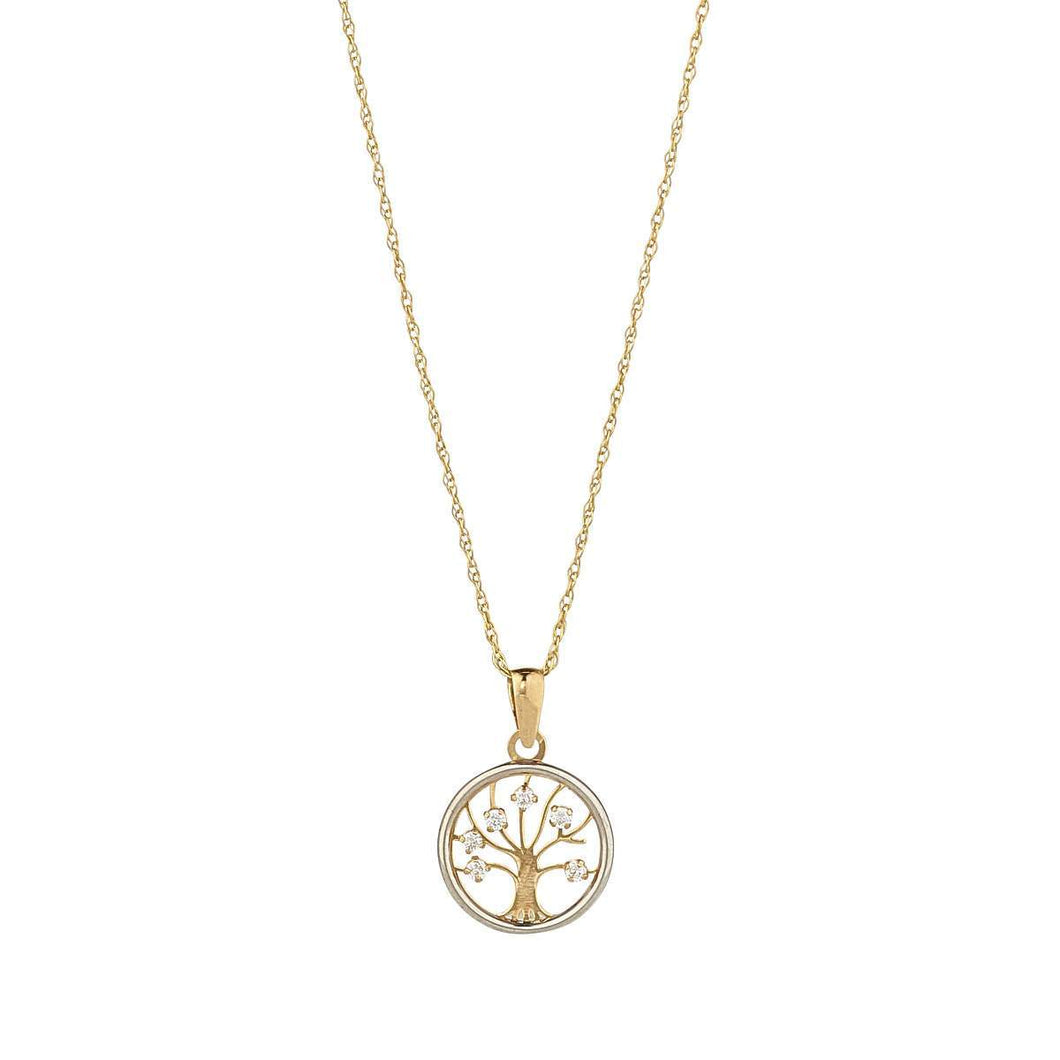 9ct Yellow & White Gold Tree Of Life Pendant