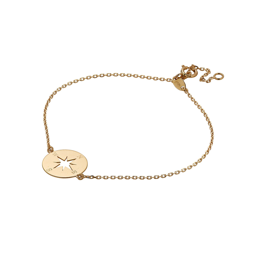 9ct Yellow Gold Compass Bracelet