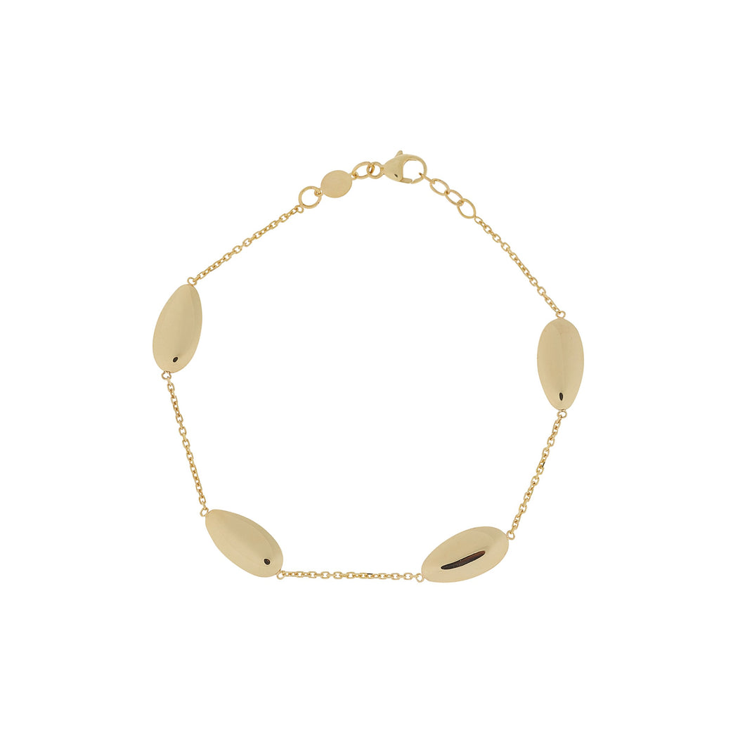 9ct Yellow Gold Oval Chain Bracelet