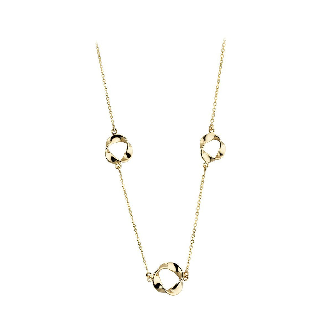 9ct Yellow Gold 3 Ribbon Necklace