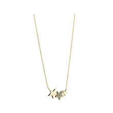 Load image into Gallery viewer, 9ct Yellow Gold Cubic Zirconia Set 3 Star Necklace