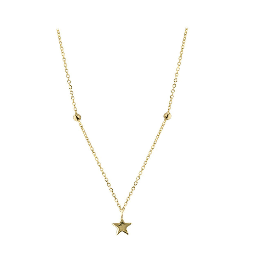 9ct Yellow Gold North Star Necklace
