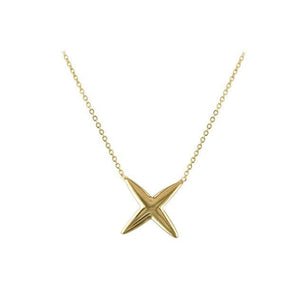 "9ct Yellow Gold ""Sealed with a Kiss"" Necklace"