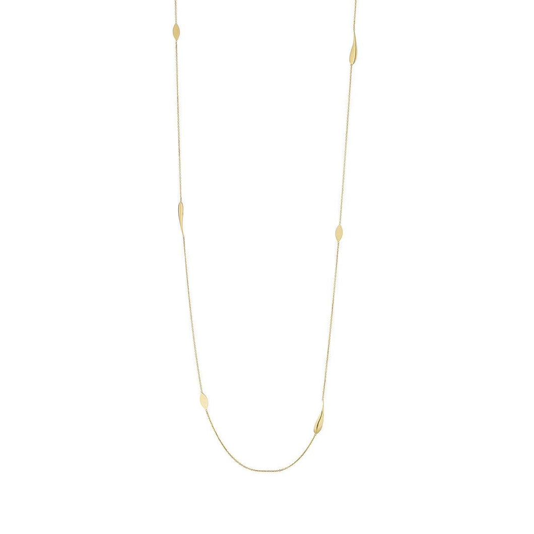 9ct Yellow Gold Long Tear Drop Necklace