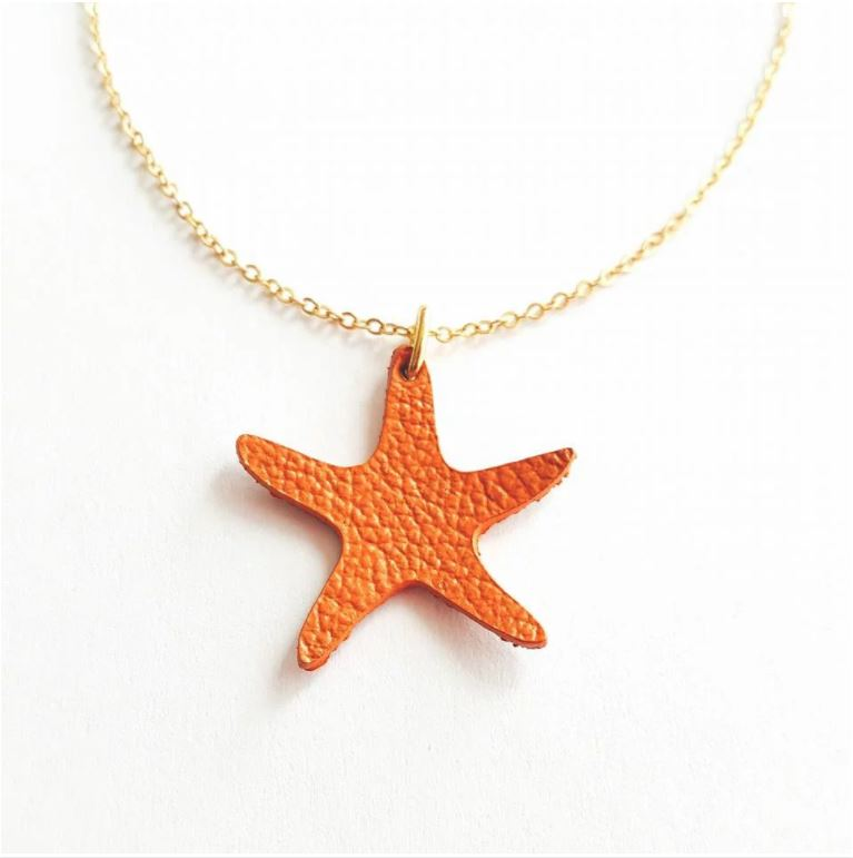 Leather Seastar Necklace