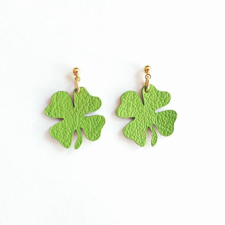 2601af0f1 Leather Shamrock Earrings – Whistle SF
