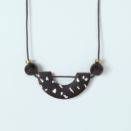 Materia Necklace No. 3 Black and White Arch