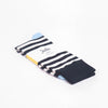 Jollie's Dark Blue Looper Socks Navy, Light Blue and White Stripe