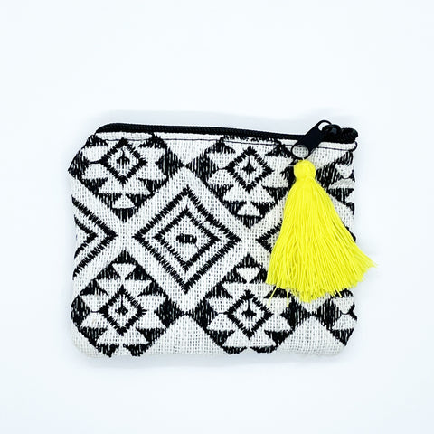 Mini Woven Zippered Pouch