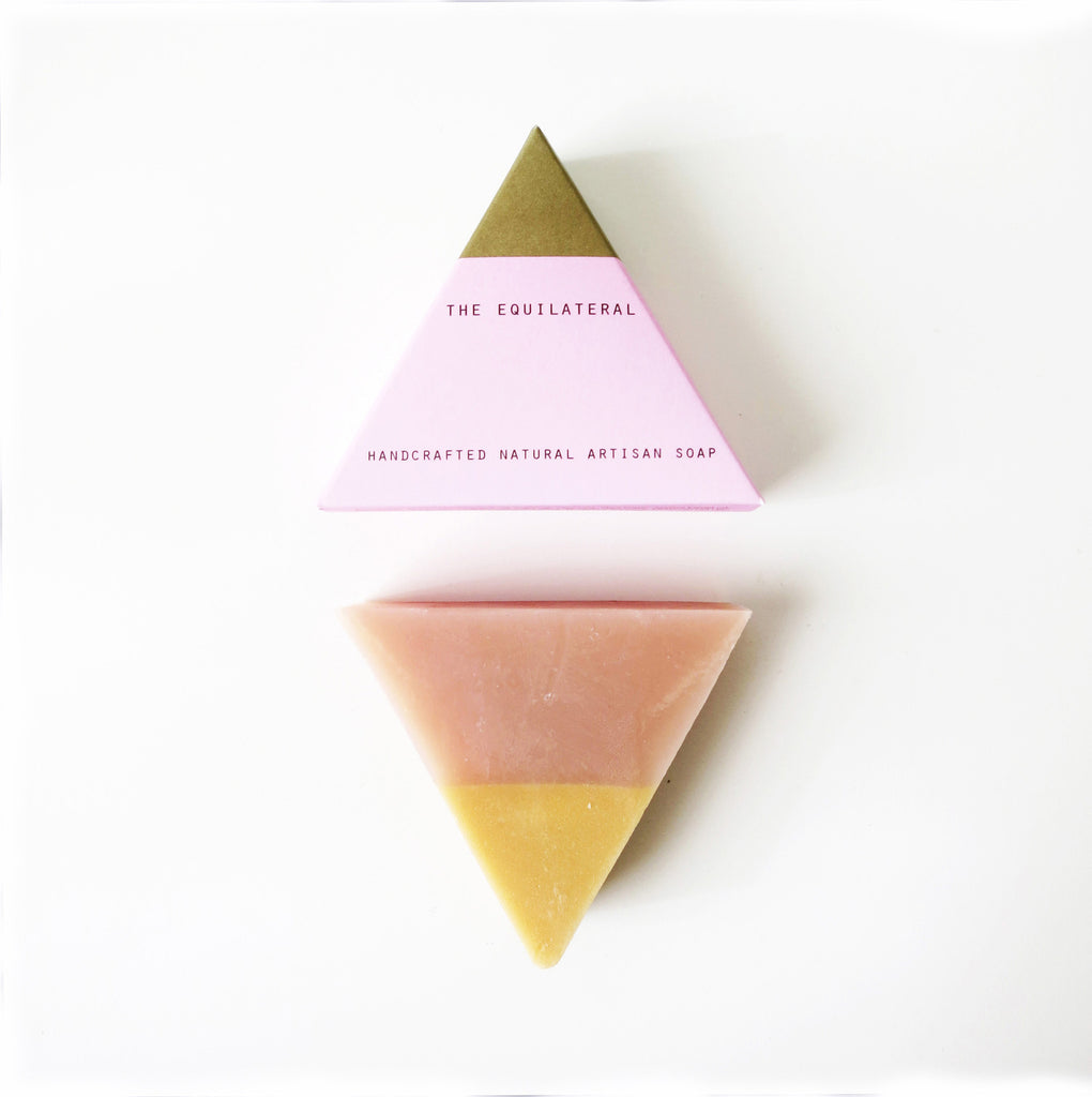 Equilateral Soap Pink and Gold