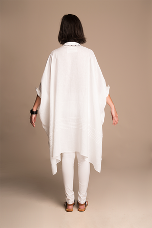 Aleta - Oversized tunic kaftan with handstiched details