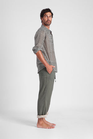Remo - Reversible cotton trousers