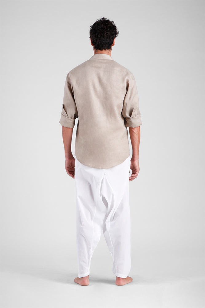 Load image into Gallery viewer, Feliandro - Classic Linen shirt with zigzag stitching