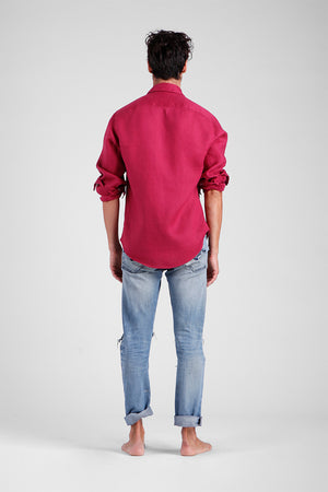 Calli - Classic Linen Long Sleeve Shirt