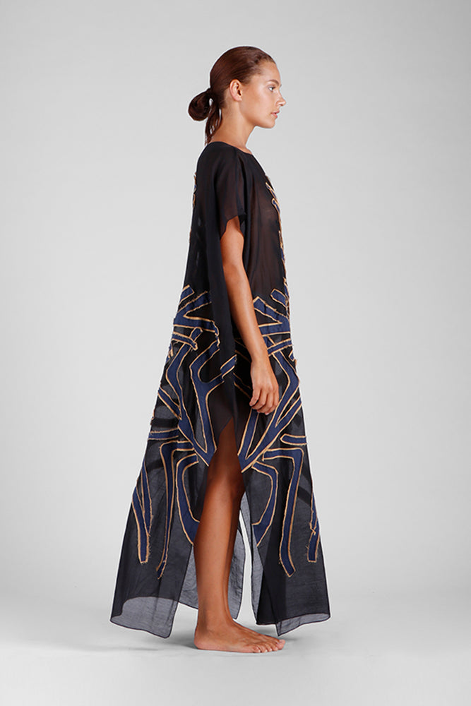Fifi - Kaftan with double appliqué graphic