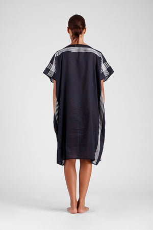 Francesca - Square kaftan with graphic stitching
