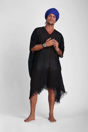 Emeric - Unisex kaftan with hand stitch detailing