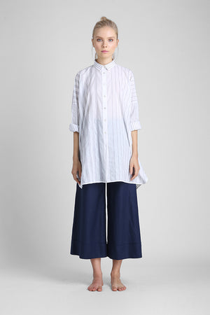 Load image into Gallery viewer, Oversized long sleeve t-shirt dress with irregular stiped stitching