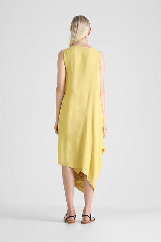 Load image into Gallery viewer, Harla - Sleeveless draped dress