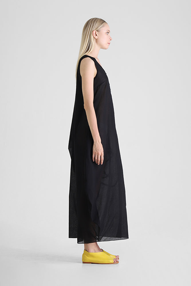 Load image into Gallery viewer, Hilja - Kaftan with abstract figure and asymmetrical sleeve