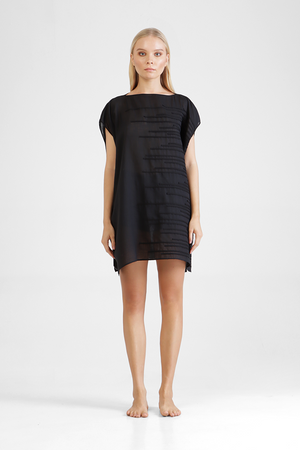 Load image into Gallery viewer, Ilia - Irregular striped appliqué tunic