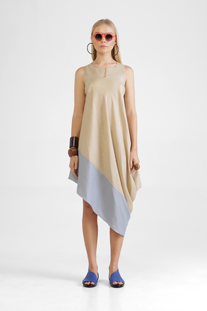 Load image into Gallery viewer, Apia - Tilted asymmetric sleeveless dress
