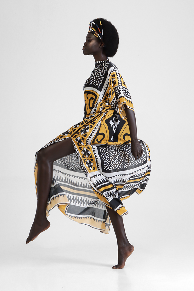 Load image into Gallery viewer, Inaki - Featherlight digital print kaftan