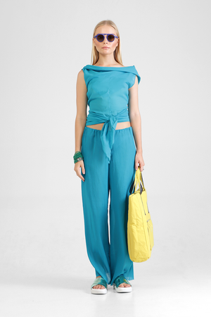 Load image into Gallery viewer, Giulia - Textured drawstring pants