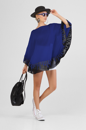 Load image into Gallery viewer, Iceley - Circular tunic poncho