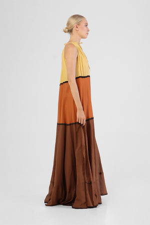Load image into Gallery viewer, Ichene - Panel maxi dress