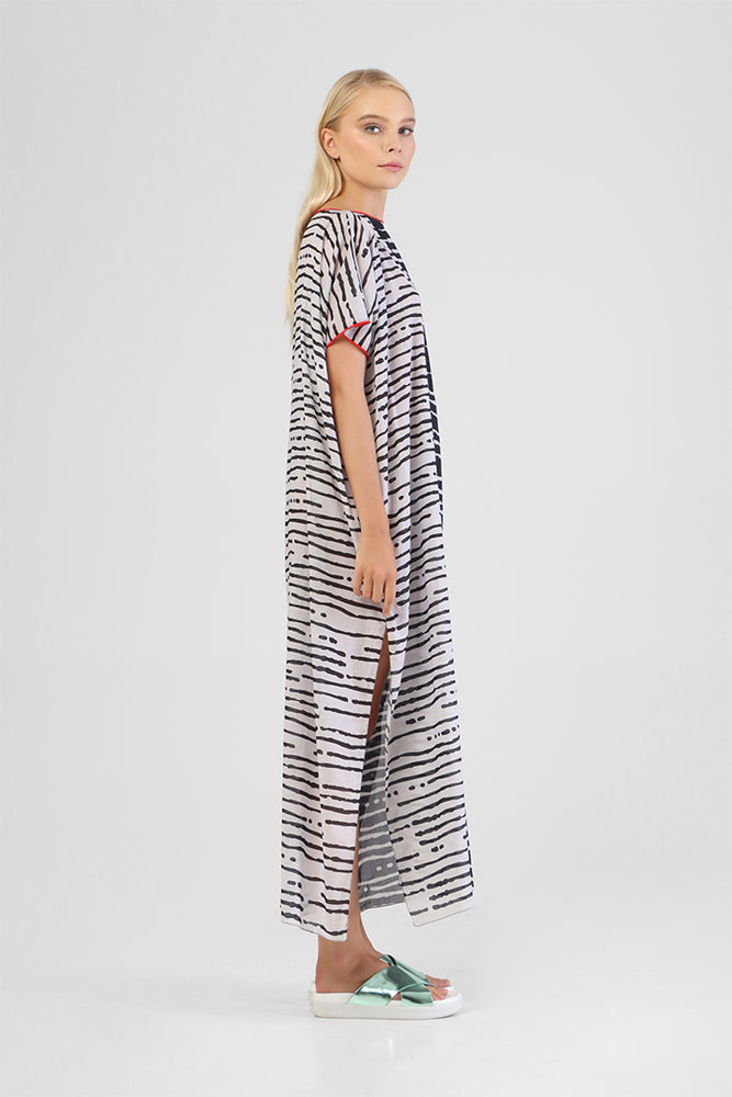 Load image into Gallery viewer, Idalina - Kaftan with contrast print